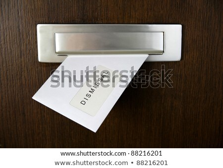 A letter in a mail slot - Dismissal Stock photo © Zerbor