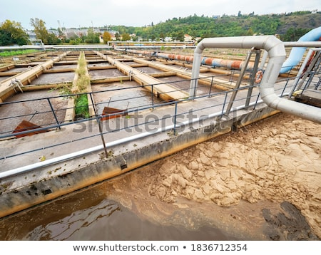 Wastewater clarifier basin Stock photo © grafvision