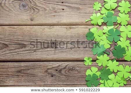 зеленый бумаги клевера День Святого Патрика Сток-фото © dolgachov