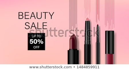 Female in Store of Decorative Cosmetics Vector Stock photo © robuart