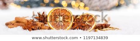 Рождества украшение оранжевый плод травы хлебобулочные Сток-фото © joannawnuk
