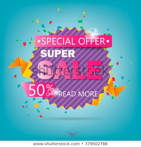 Big Sale and Clearance, Circle Promotion Poster Stock photo © robuart