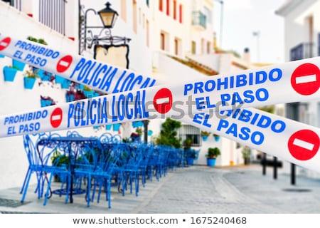 Mijas quarantined street caused by COVID-19. Spain Stock photo © amok
