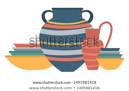 Pots Handmade Products, Amphora and Urn or Jar Stock photo © robuart