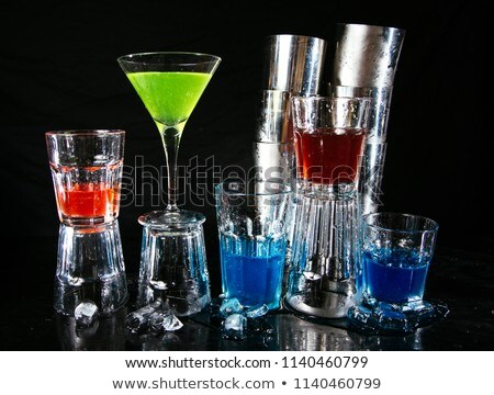 bartender pouring alcohol drink in the glass Stock photo © adrenalina