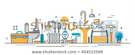 Plumber services concept landing page Stock photo © RAStudio