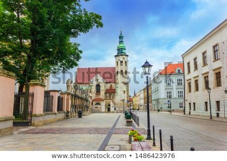 Igreja cracóvia Polônia cidade velha distrito romano Foto stock © borisb17