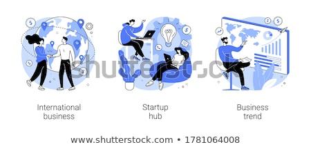 бизнеса тенденция вектора метафора текущий Тенденции Сток-фото © RAStudio
