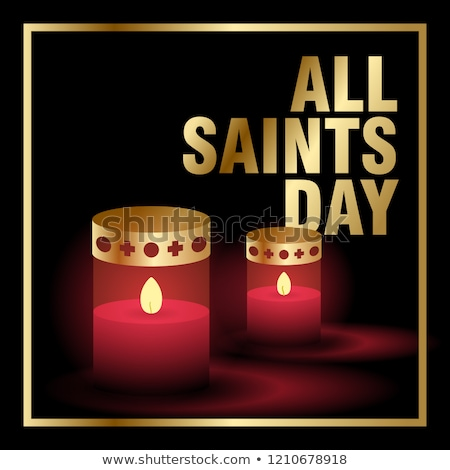 Candles on red background, all saints day concept Stock photo © carenas1