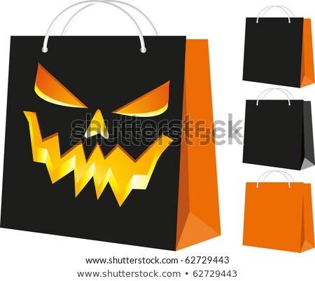 Three halloween shopping bags. vector illustration Stock photo © carodi