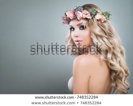 haren · portret · mooie · vrouwelijke · gezicht - stockfoto © carlodapino