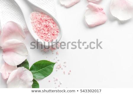 pink bath salt in bowl stock photo © jirkaejc