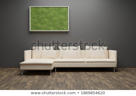 Backlit in a house room with plants Stock photo © lunamarina