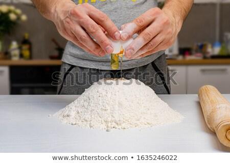 Homem mão atraente avental Foto stock © Discovod