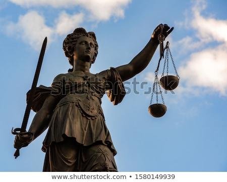 Justitia In Frankfurt Zdjęcia stock © manfredxy