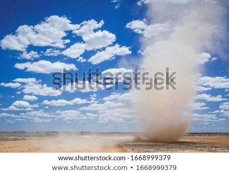 Sable ville désert route été jour Photo stock © OleksandrO