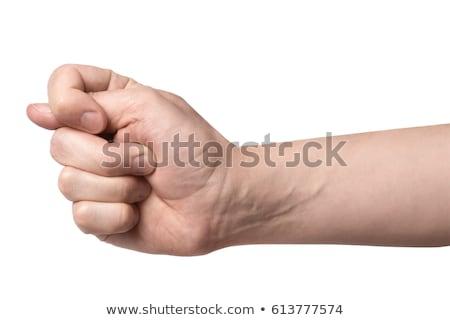 Hand tonen vijg teken geïsoleerd witte Stockfoto © bloodua