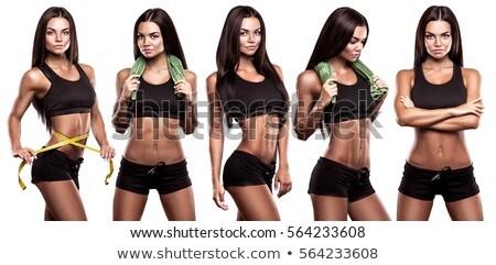 isolated fitness girl stock photo © fuzzbones0
