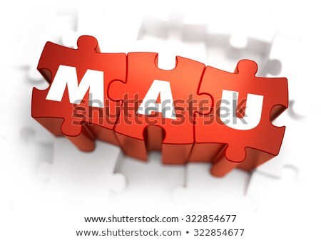 Word - MAU on Red Puzzles. Stock photo © tashatuvango