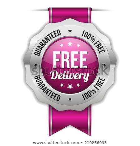бесплатная доставка Purple вектора икона кнопки интернет Сток-фото © rizwanali3d