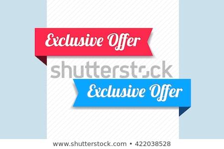 Exclusive Deal Blue Vector Icon Design Stock photo © rizwanali3d