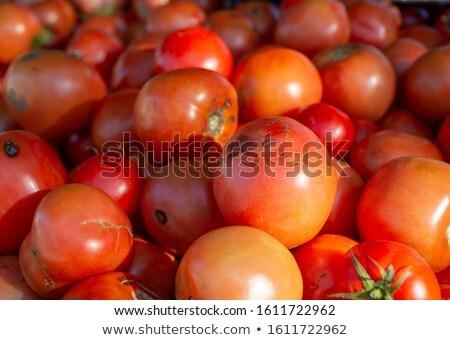 red tomato mound in vegetables market Stock photo © lunamarina