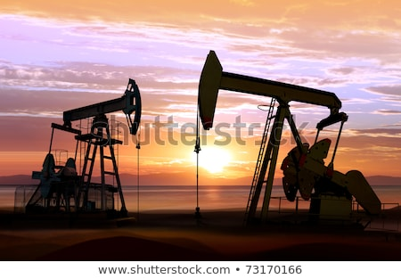 Working oil pump in desert Stock photo © CaptureLight