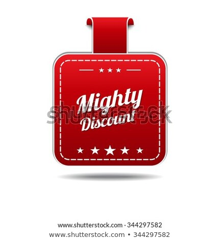 mighty discount red vector icon design stock photo © rizwanali3d