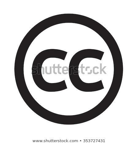 Creativecommons CC Icon Illustration Art Stock photo © kiddaikiddee