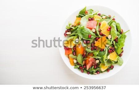 Vers salade granaatappel ontbijt blad Stockfoto © Lana_M