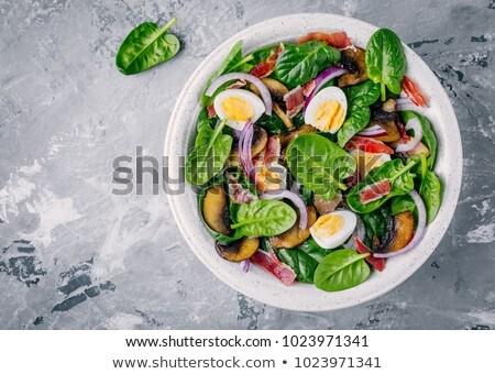 Bacon and Egg Salad Stock photo © monkey_business