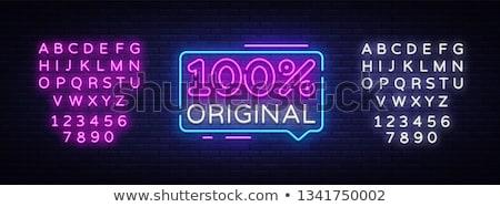 Bondade néon ilustração assinar Foto stock © 72soul