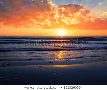 Bright sunrise over the ocean Stock photo © alinamd