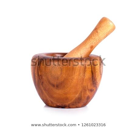 Handgemaakt houten geïsoleerd witte hout natuur Stockfoto © ungpaoman