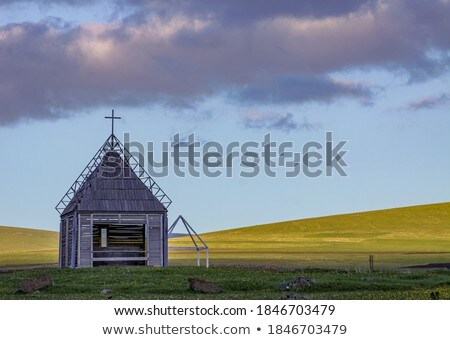 Little stone church in rural Australia Stock photo © lovleah