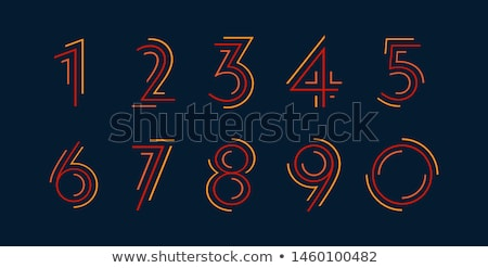 Font design for numbers one to three Stock photo © colematt