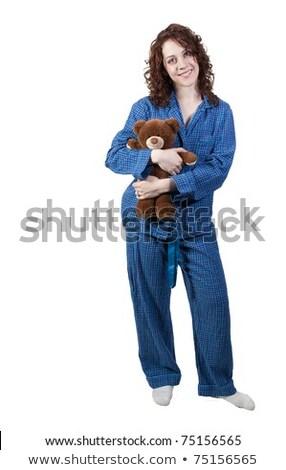 Mooie jonge vrouw pyjama gevuld Stockfoto © ruslanshramko