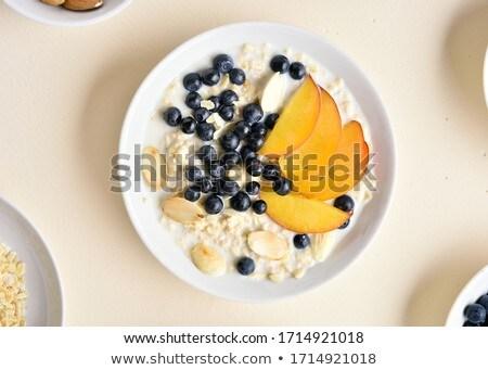 Wild Blackberry Bowl Overhead Stock photo © THP