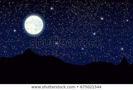 Sky background with fullmoon and stars Stock photo © colematt