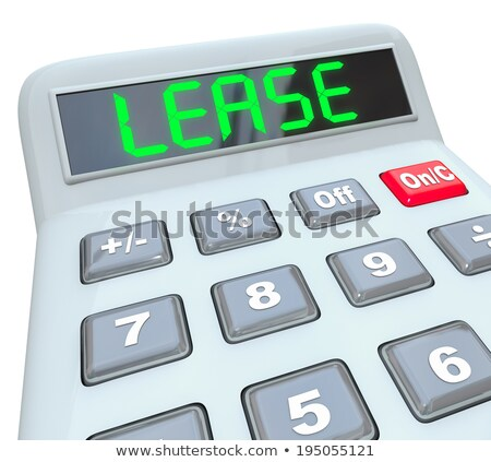 Calculator woord verpachting display home financieren Stockfoto © Zerbor