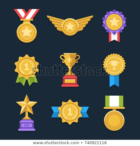 Medal flat color illustration Stock photo © barsrsind