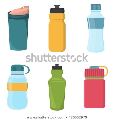 набор красочный пластиковых велосипед воды бутылок Сток-фото © MarySan