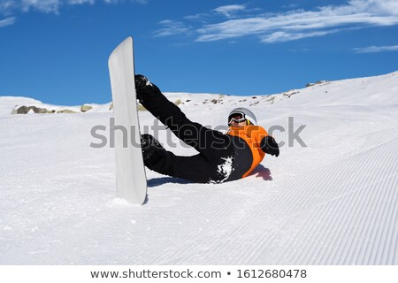Man Fall Down While Riding Snow Board On Snow Track Stock photo © AndreyPopov