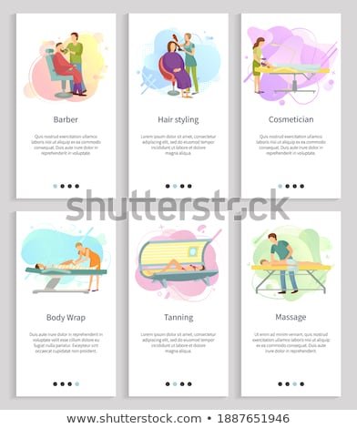 Tanning and Massage, Professional Care Vector Stock photo © robuart