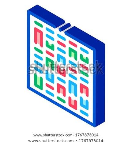 Paternity Genetics Test isometric icon vector illustration Stock photo © pikepicture