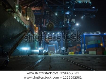 Hong · Kong · konteyner · liman · gün · batımı · şehir · köprü - stok fotoğraf © cozyta