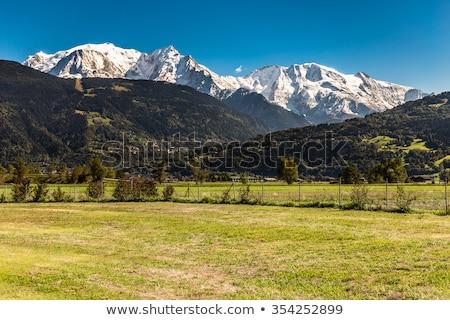 Gletsjer zomer hemel wolken natuur Stockfoto © Antonio-S