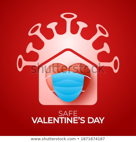 3d three dimensional red vector hearts for valentines day Stock photo © experimental