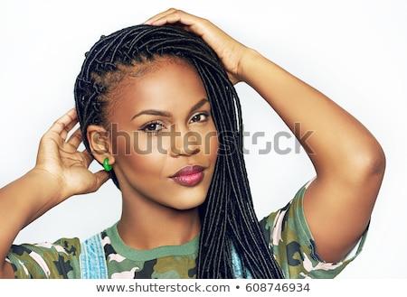 jonge · vrouw · natuurschoon · make · poseren · kostuum - stockfoto © zastavkin