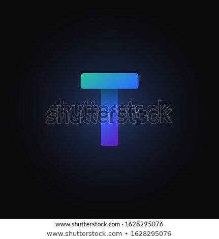 Stock photo: Alphabet folded of colored paper - Blue letters